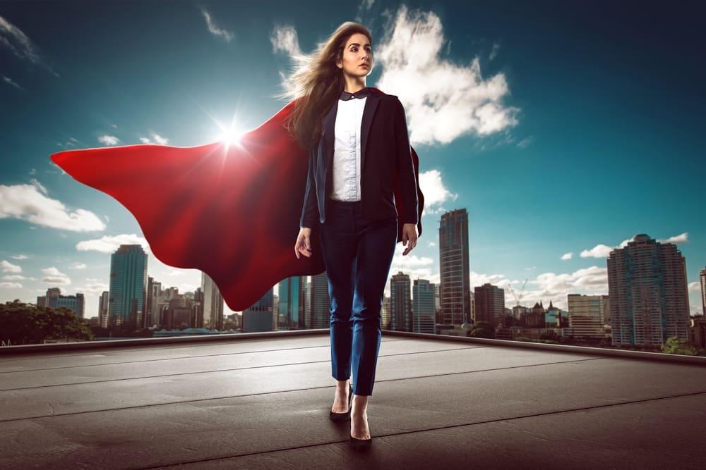 Superheld Führungskraft